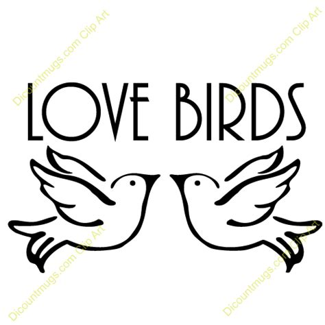 Clipart 12431 Doves In Love Mugs T Shirts Picture  sketch template