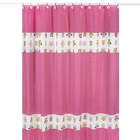 owl curtain sweet jojo designs happy owl shower curtain in pink bed