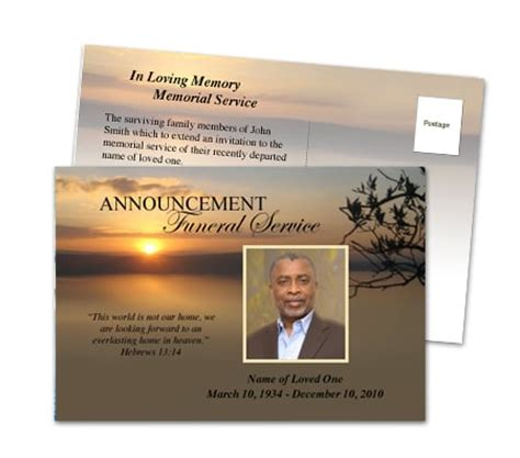 templates for funeral announcements funeral invitations with many beautiful http www