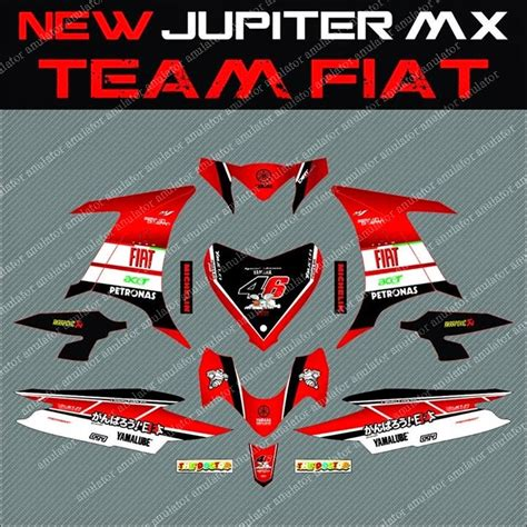 Decal Stiker Sticker Striping Yamaha Jupiter Mx Lorenzo Motogp Spec B pin cutting sticker yamaha jupiter mx new cars pictures wallpaper on