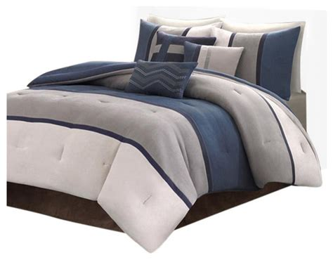 solid comforter sets microsuede solid pieced 7 comforter set comforters