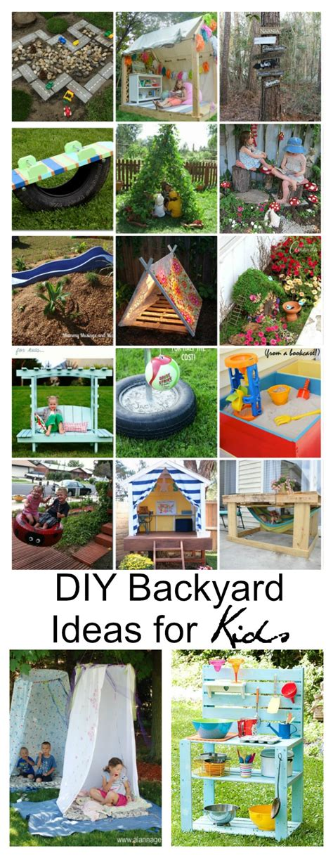 diy backyard designs diy backyard ideas for kids the idea room