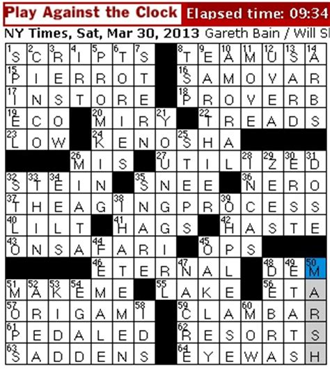 dominant theme crossword clue rex parker does the nyt crossword puzzle march 2013