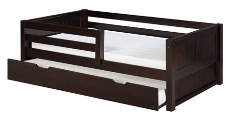 bed guard rail day bed front guard rail trundle panel cappuccino