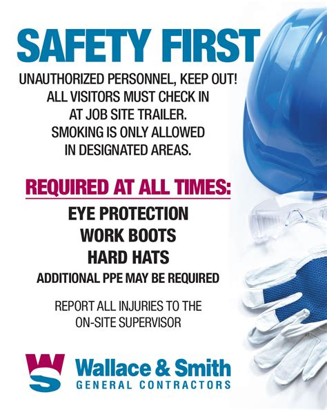 building a safer work place is a team effort safety wallace smith general contractorswallace