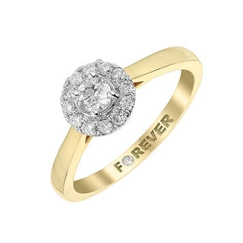 the forever 18ct yellow gold halo ring h