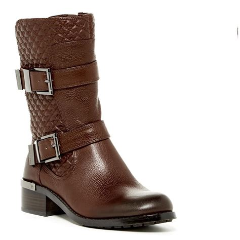 brown moto boots vince camuto brown moto combat boots booties size us 8