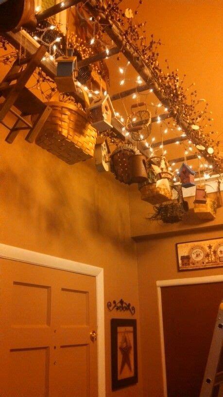 Primitive Kitchen Island Lighting Islands Dining Room Tables And Ladder On Pinterest