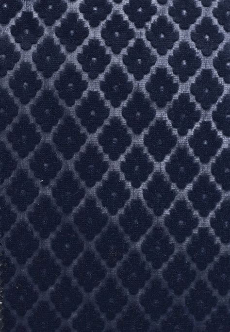 Navy Velvet Upholstery Fabric by Cassandre Velvet Damask Embossed Navy Blue Velvet
