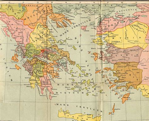 grecia antica atlas cartina muta della grecia antica