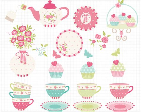 garden clipart shabby chic pencil and in color garden