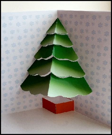 3d tree card template tree card project and more free craft downloads