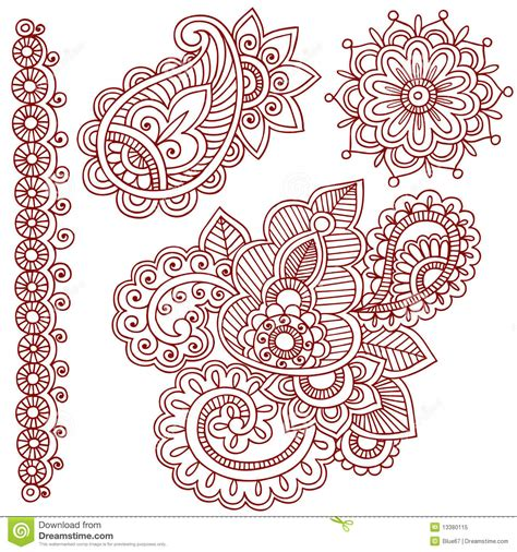 free doodle designs henna mehndi paisley doodles royalty free stock photo