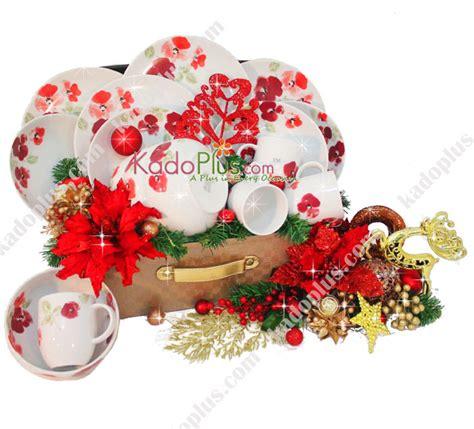 parcel keramik natal dinner set 1 toko bunga