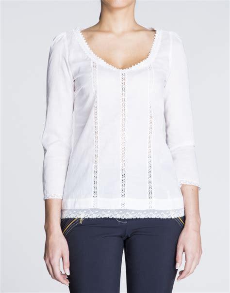 imagenes de blusas blancas con encajes blusa de batista blanca con encajes roberto verino