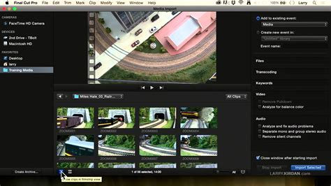 final cut pro cannot save changes to the library media import window changes in final cut pro x 10 2