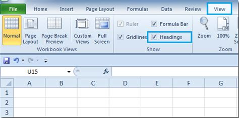 excel page layout show header how to display or hide row column headers in microsoft