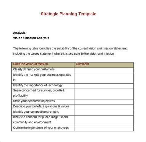 Strategic Account Plan Template 8 Free Word Pdf Documents Download Free Premium Templates Free Strategic Plan Template