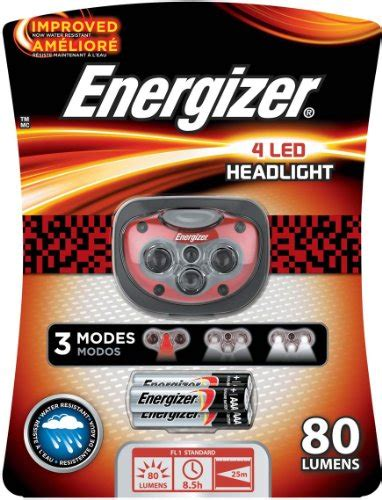 energizer rugged led headlight energizer 4 led headlight black grey 3aaa tool industry