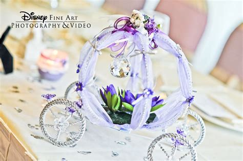 tabletop cinderella s coach filled with floral disney