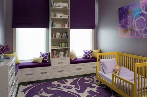 purple toddler bedroom yellow and purple kids room with yellow convertible