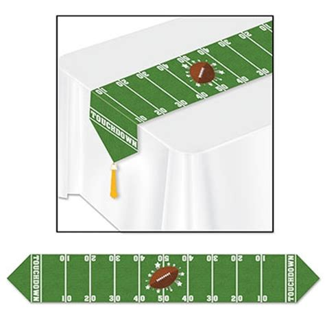 football field table runner partycheap