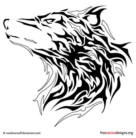 tribal wolf head tattoo designs wolf tattoos