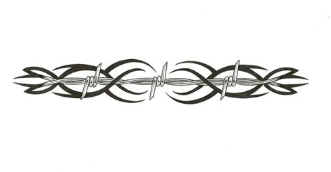 tribal clipart barbed wire pencil and in color tribal