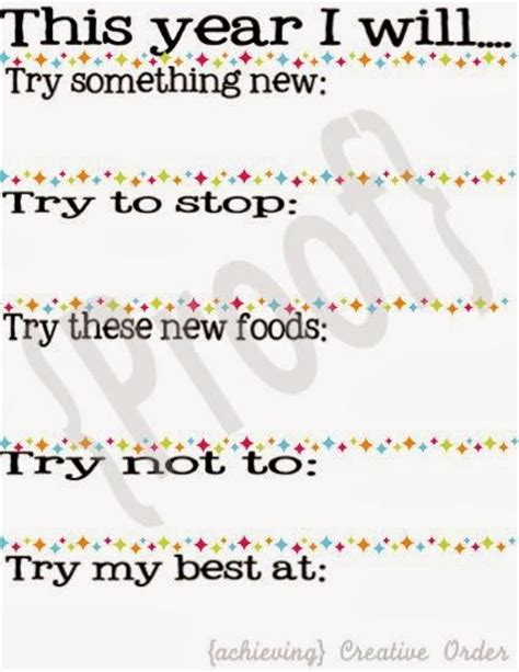 new year resolutions printable kid free new year s printables for the bright ideas