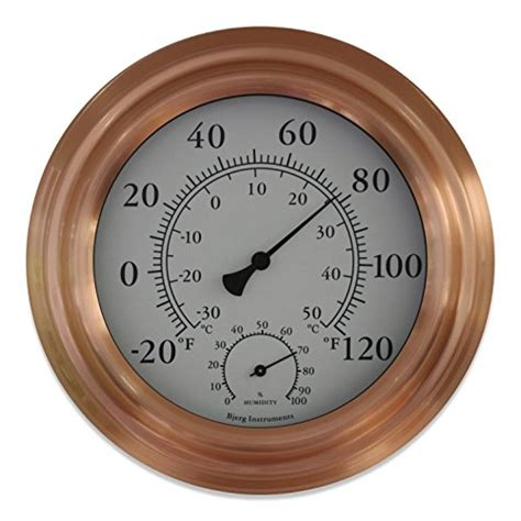 Large Outdoor Thermometer Decorative by 8 Quot Copper Finish Decorative Indoor Outdoor Thermometer And Hygrometer New Ebay