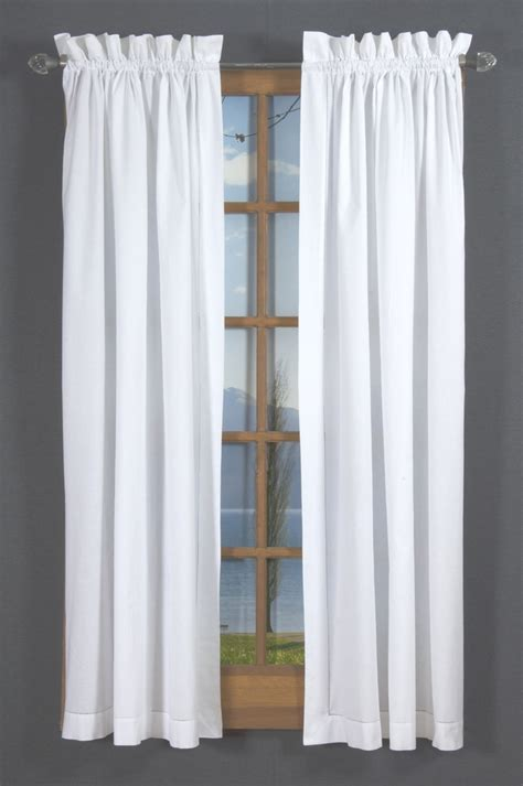 curtains outlet online hemstitch rod pocket curtains white thecurtainshop