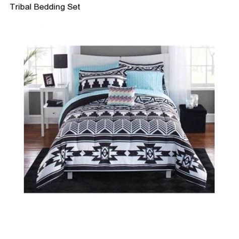 tribal bedding full size comforter white black set