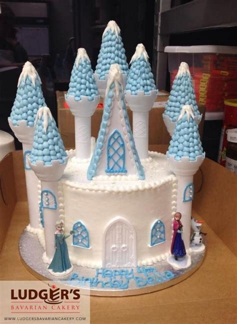 Frozen Castle Cake Made Using The Wilton Castle Kit And