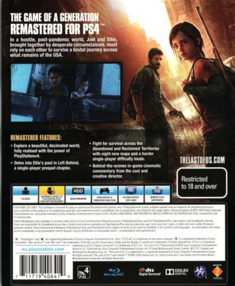 Kaset Bd Ps4 The Last Of Us Tlou the last of us remastered ps4 usa from sort it apps
