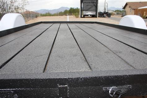 diy truck bed liner restoring an old flatbed with al s liner toy hauler