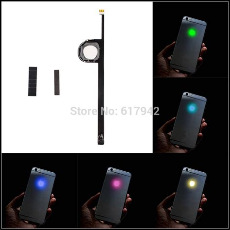 Transparent Mod Kit Blue for iphone 6 luminescent glowing logo led light up