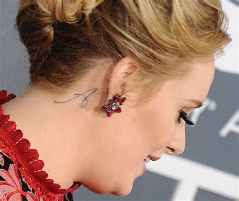 adele tattoo behind ear six awesome celebrity moms with tattoos of their kids