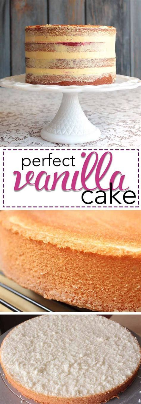 Kara's Perfect Vanilla Cake   Recipe   Recipes   Perfect