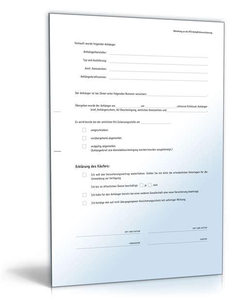 Vorlage Kaufvertrag Anhanger Privat