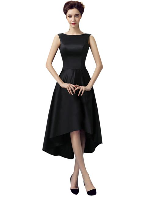 Sleeveless Asymmetric Dress retro neck sleeveless asymmetric prom dress oasap