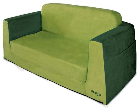 little kids couch p kolino little couch in green modern kids sofas by