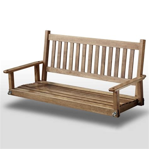 5 wood swing plantation 58 5 wood porch swing maple stain dcg stores