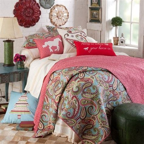 pony paisley quilt painted walls girls and bedding collections on pinterest