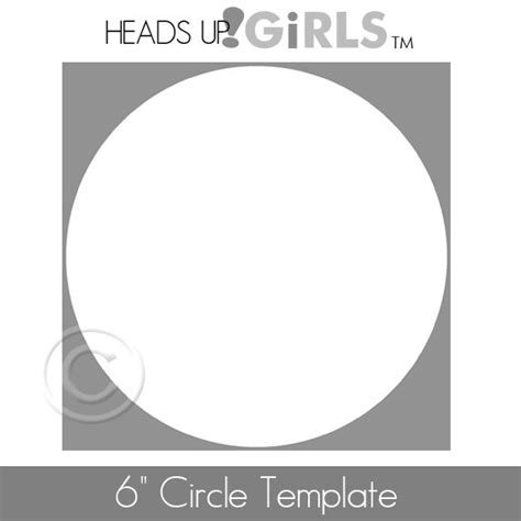 6 inch circle template six inch 6 circle template digital image by