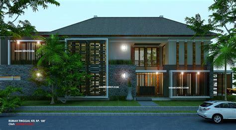 desain eksterior rumah tropis modern desain rumah pojok desain unik tropis modern