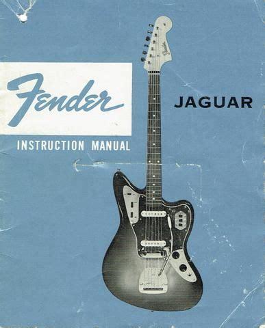 Fender Jaguar Original Instruction Manual Advertising