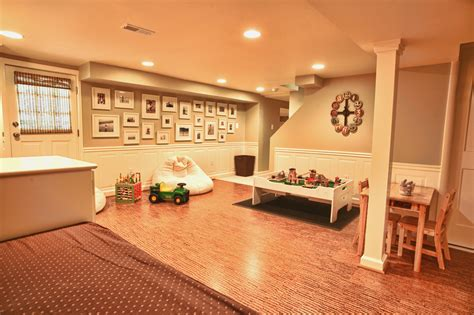for family room basement the unfinished as playroom girls