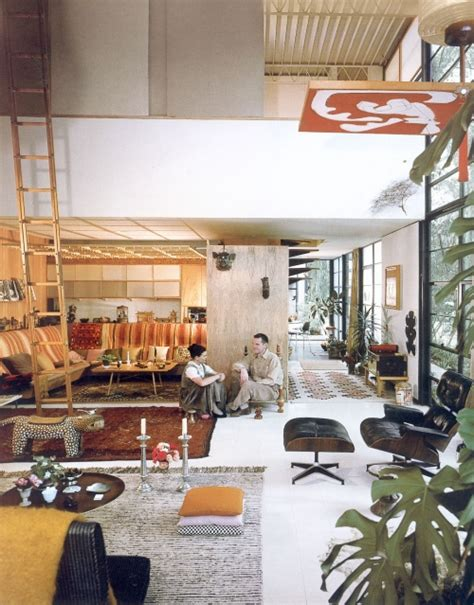 Eames House Interior by Moon To Moon Eames House