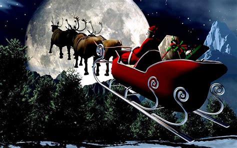 imagenes gratis en 3d fondo de pantalla 3d de navidad de santa vas de luna hd