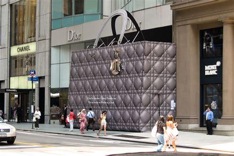 Home Design Stores Auckland christian dior giant lady handbag 187 retail design blog